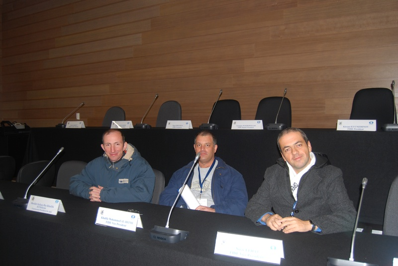 A few days before FIDE elections with Alon Greenfeld and Vitali Golod